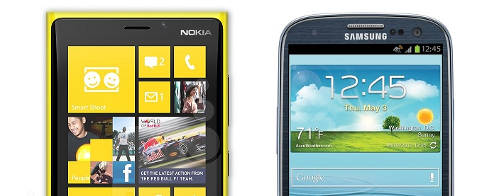 Nokia Lumia 920 vs. Samsung Galaxy S3