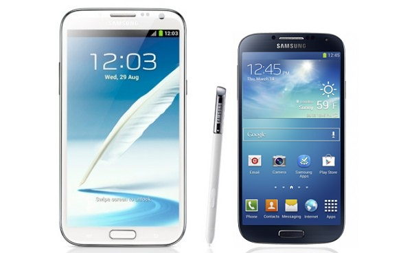 Samsung Galaxy S4 and Note 2