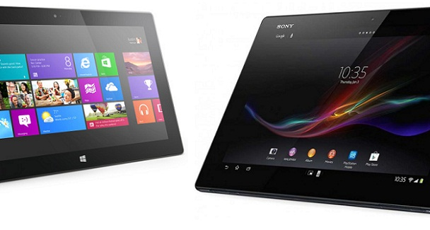 Xperia Tablet Z vs Surface RT