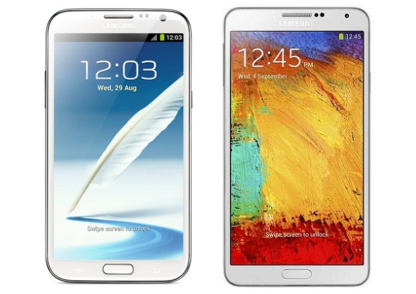 Sasmung Galaxy Note 3 vs. Galaxy Note 2