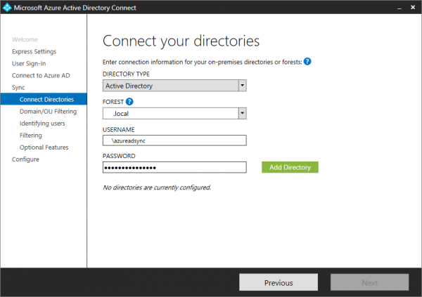 Connect your Active Directory to Office 365.