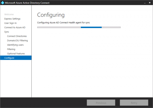 Azure AD Connect installing!