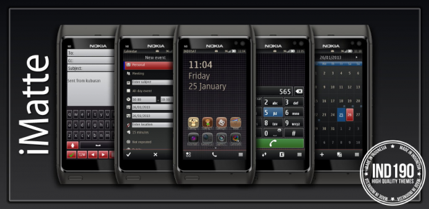 "Theme Nokia Belle "" iMatte 1.0 SE by IND190 """