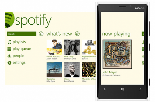 Spotify Now Available for Windows Phone 8 Devices