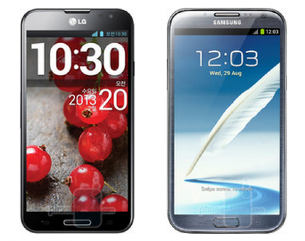 Samsung Galaxy Note II vs. LG Optimus G Pro – Video Comparison