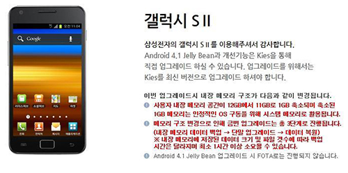 Samsung confirms:  Galaxy SII Jelly Bean update coming in February