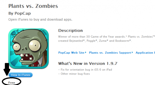 Plants vs. Zombies Free for iOS Devices