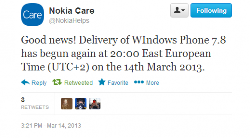 Windows Phone 7.8 Rollout Back on Track