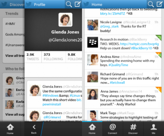 BlackBerry 10 Twitter app gets its first major update