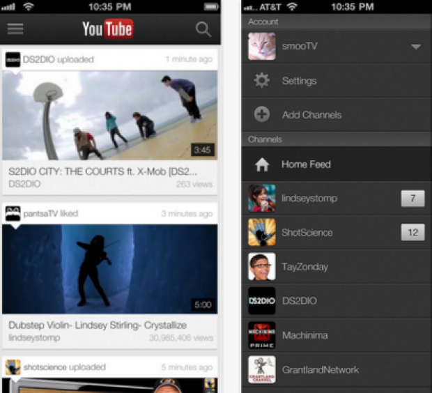 "Google updates YouTube app for iOS with ""Send to TV"" feature"