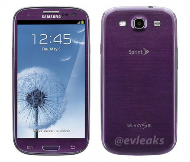 Image of Purple Galaxy SIII for Sprint leaked