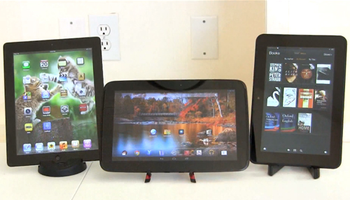 iPad 4 vs. Google Nexus 10 vs. Amazon Kindle Fire HD – Video Comparison