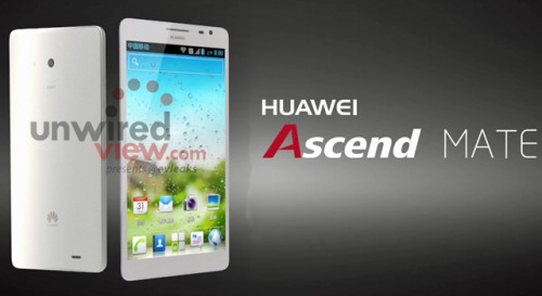 First Official Pictures of the Huawei W1, Ascend Mate, and Ascend D2