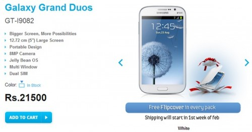 Samsung Galaxy Grand Duos announced in India