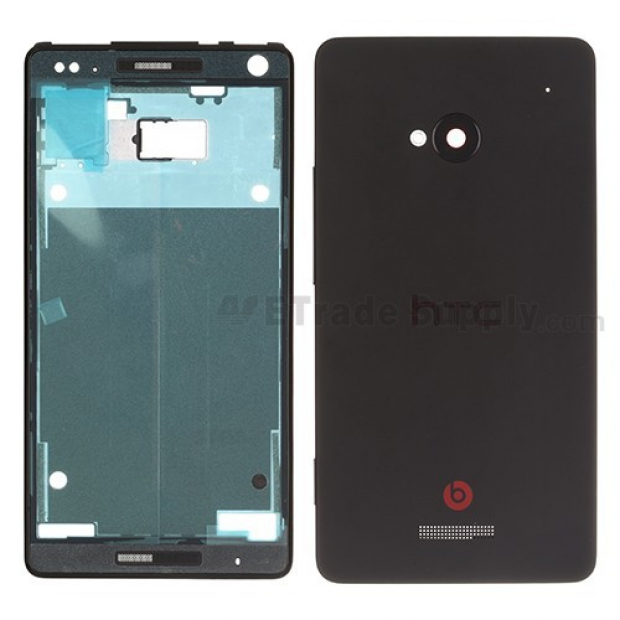 HTC M7 front and back housing leaked on video
