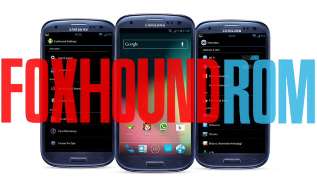 Fox Hound Rising (JB 4.1.2) ROM for Galaxy SIII GT I9300 devices