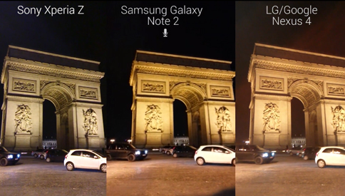 Sony Xperia Z video samples and screen comparison